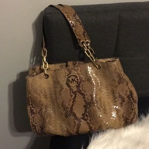 Michael Kors Leather Python Bag